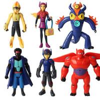 Wholesale 6pcs Big Hero Action Figure cm PVC Fred Tomago Honey Lemon Wasabi Hiro Hamada Baymax Doll Toys for Christmas