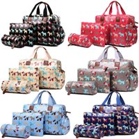 baby wipes fashion - 4PCS Women Scottie Dog Oilcloth Mummy Maternity Baby Diaper Nappy Changing Wipe Clean Handbag Satchel Tote Hand Bag Set L1501DG