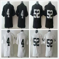 Cheap Kid's New Arrival OAK #4,#52 White Black American Football Jerseys Allow Mix Order