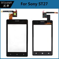 touchscreen - Original Replacements Touch Screen Digitizer Glass LensFor Sony Xperia ST27 Touch Panel Touchscreen Accessories Cell Phone Parts