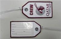 Fabric airway travel - Crew Qatar Airways Travel Luggage Name Tags Qatar Tag For Bags per