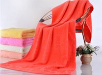 bath cost - Factory direct supply cotton yarn untwisted large flower bath towel thicker to increase promotional selling low cost item