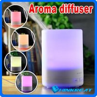 Wholesale New Protable Colorful Ultrasonic Ultrasonic Aroma Diffuser ML Aromatherapy Air Purifier Fragrance Diffuser