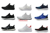 Wholesale 11Color Ultra Boost White Black Green Outdoor Men s Sports Running Shoes Men Shoe Size
