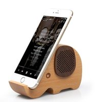 apple speaker system - 2016 Elephant Shaped Wooden Wireless Bluetooth Speaker for iPhone S Samsung Galaxy S6 S5 Note4 Wooden Fashionable Wireless Speaker System