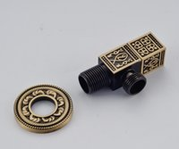Wholesale Antique Brass Finished Wall Mounted Bathroom Accessory Washing Machine Tap