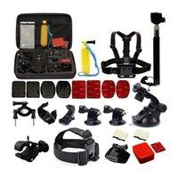 Wholesale 2015 Hot Sales Fashion Convenient Black Plastic GoPro Accessory Kits Accessories for GoPro Hero