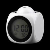 lcd talking alarm clock - Hot Sales Lovely Digital LCD Voice Talking Snooze Alarm Clock LED Time Temperature Desk Bed Students Clock
