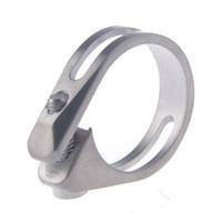 bike cnc - Titanium Ti Ultralight CNC Seatpost Clamp mm mm With Titaniun Bolt
