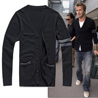 Wholesale Plus Size Male V Neck Sweater Cotton Pullover Knited Sweater Men s Full Sleeves Jumpers