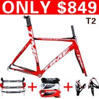 best fiber bars - Best selling New color time gold carbon frame TIME RXRS Ulteam Road frameset full carbon fiber bicycle frame BAR STEM bottle cage