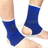 Wholesale New pair Football Basketball Ankle Support Elastic Brace Guard Support Ankle Pad Protection Wrap Band Gym