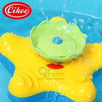 bath shower spray - Hot Summer cute starfish baby water spraying bath play taps toys buttressed music rotating spray shower electronic spray water