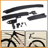 Wholesale New Top Quality Mountain Bike Bicycle Front Rear Mudguard Fender Set Kit Black Universal Bike Fender Dropshipping