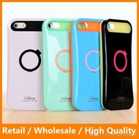 i-glow cases - i Glow Hybrid Luminous Noctilucent Ring Stand Holder Mobile Phone Case for iPhone6 s with OPP Bag Packing