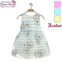 children fashion garment - 2015 baby girls fashion flower dresses kids summer chiffon dress children party clothes garment gmy