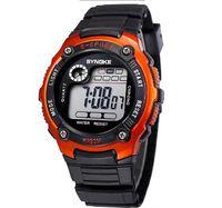 Wholesale 2014 Wrist watches Men Sports Watches LED Digital Watch Children Kid Watches mix Colors orange