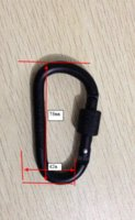 aluminum importers - Metal Material aluminum carabiner clip keychain part keychain importer keychain importer