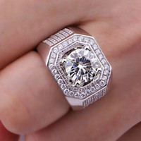 american professionals - Size8 professional Brand Jewelry kt white gold filled Topaz Simulated Diamond Men Wedding Ring gift
