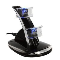 Wholesale LED Dual USB Charging Dock Cradle Station Stand for Sony Playstation PS4 Game Gaming Controller