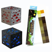 light up toys - Minecraft Toy Minecraft quot Light Up Diamond Ore quot quot Light Up Red Ore quot quot Light Up Torch quot