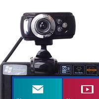 Wholesale USB Megapixel HD Webcam Web Cam Camera Microphone Mic LED PC Laptop Skype L0192603