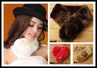 Wholesale woman winter noble simple faux rabbit fur scarf lady winter scarves neck warmer wraps false collar