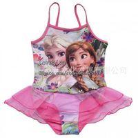 beachwear clothing - Frozen Kids Bathing Suits Girl Dress Children Girls Swimsuit Child Sets Beachwear Kids Swimwear Child Lace One Piece Clothing L39488