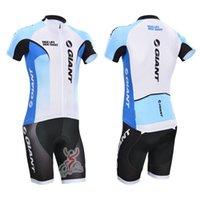 giant mountain bike - Giant cycling jerseys white blue color bike shorts short sleeve cycling jersey set new arrival mountain bike jersey with size XS XL
