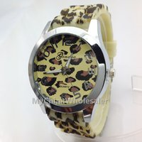 animals shadow - 4 different Colored Style Rubber Material Leopard Watch Animal Fashion New Shadow Band Girl Boy Silicone Quartz Watches Hot Sell