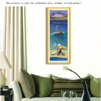 Wholesale DIY Handmade Needlework Cross Stitch Set Embroidery Kit Precise Printed Aegean Sea Pattern Cross Stitching Home Decoration
