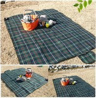 Wholesale Outdoor Camping Picnic Mat Portable Folding Beach Rug cm Baby Crawling Playing Grid Cushion Blanket os102