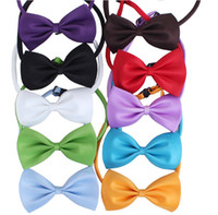 Wholesale Cheap Colors Dog Tie Cat Bow Tie Pet Ties Can Be Used As Head Of Flowers Adjustable Collars Apparel Christmas Decorations