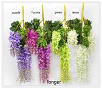 house plants - Design Romantic Artificial Flowers Simulation Wisteria Vine Wedding Decorations Long Plant Bouquet Room Office Garden Bridal Accessories