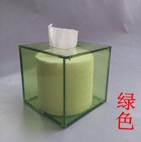 acrylic tissue box - Square Facial Acrylic Tissue Box Cover Napkin Dispenser High Quality Acrylic Tissue Box For Business Hotel TB003