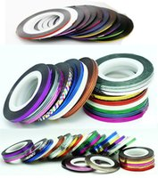 Wholesale Rolls Striping Tape Line Nail Art Decoration Sticker Multi Colors Nail Art Nail Patterns Highlight Nail Wraps Sticker