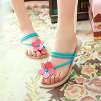 Wholesale Fashion Flat Lady PU Sandals Women Casual Shoes Slippers