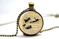 art pan - 10pcs Peter Pan Jewelry Peter Pan Necklace Peter Pan art pendant jewelry peter pan