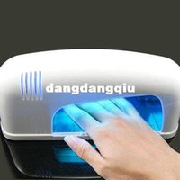 uv gel lamp - 220V W White Nail Art UV Gel Curing Lamp Dryer Light NAIL UV LAMP W NAIL MACHINE EURO plug free shiping