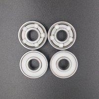 bearings skate ceramic - White Ceramic BAlls inline skate bearings seba FreeLine skateboard bearing roller skate wheels bearings