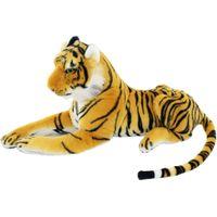 achat en gros de tigre en peluche-Jesonn Réaliste doux animaux en peluche jouets en peluche tigre pour les enfants Cadeaux d'anniversaire, beige et blanc, plusieurs tailles