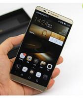 achat en gros de téléphones android chine-Chine Téléphonie PHONE Livraison gratuite téléphone déverrouillé Huawei Ascend Mate 7 Téléphone 1: 1 Octa Core Android 4.4 Smartphone 4Go RAM 32G ROM avec des cadeaux