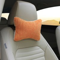 automobile headrests - 2pcs Automobile Headrest Seat Covers Supplies Car Pillows for Auto Car to Make Neck Comfortable Soft Cozy Waist Cushion