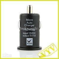 Wholesale Mini Car Cigarette Powered mA USB Adapter Charger Black DC V