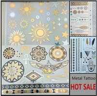 belly bracelets - MIXED fashion sex products necklace bracelets tatoo metal silver golden temporary tattoos Sticker