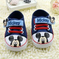 Wholesale Mickey First Walking Shoes Baby Moccasins Soft Kids Shoes Baby Footwear Baby First Walker Shoes Infant Shoe Boys Girls Baby Shoes C6516
