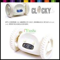 alarms holidays - 2011 Novelty Digital LED Run Away Running Alarm Clock Christmas holiday gift color for optional