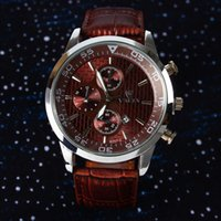 Wholesale hot new men luxury brand quartz watch Fashion wrist watch Japanese quartz clock leather strap calendar Men s watches