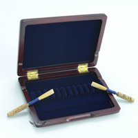 Wholesale Roffee Woodwind Instrument Accessories Parts Brand New Musical Oboe Reed Case Maple Wood Wooden Hold Reeds Box