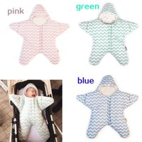 Wholesale HUG Me Babys Sleeping Bags Fashion Cute Striped Star Sleeping Bags Newborn Envelope Blanket Baby Padded in Stroller Fleabag MC